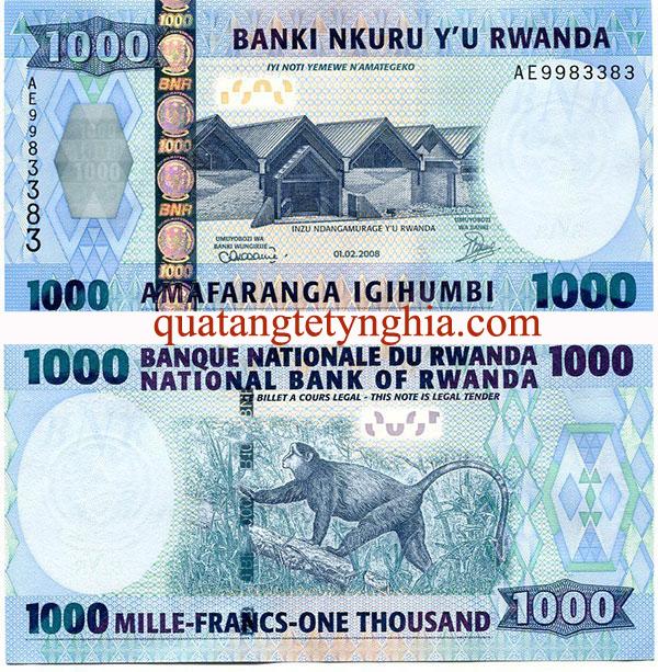 Tiền lì xì khỉ Rwanda