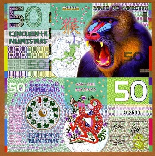 Tiền con khỉ Kamberra 50 Numismas