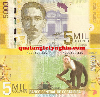 Tiền lì xì in hình khỉ CostaRica